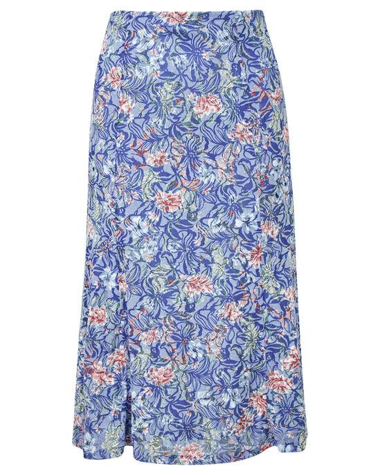 Floral Burn Out Skirt