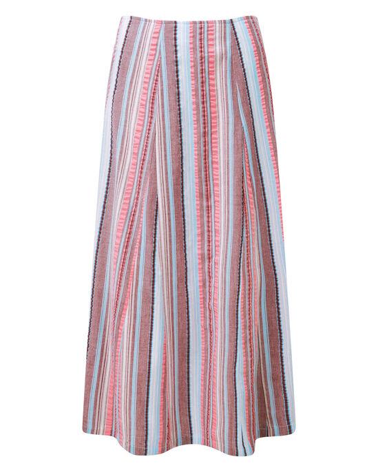 Seersucker Midi Skirt