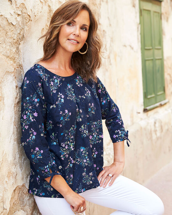 Broderie Anglaise Floral Top