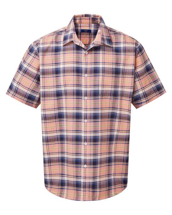 Soft Coral Short Sleeve Oxford Shirt
