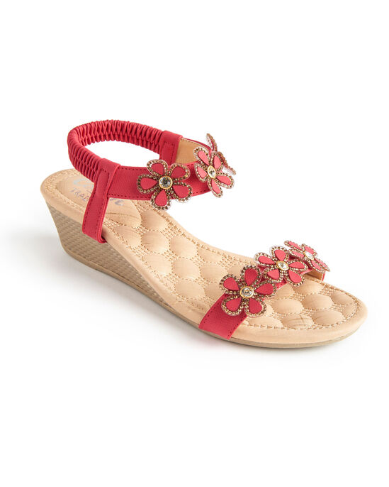 Jewelled Wedge Sandals