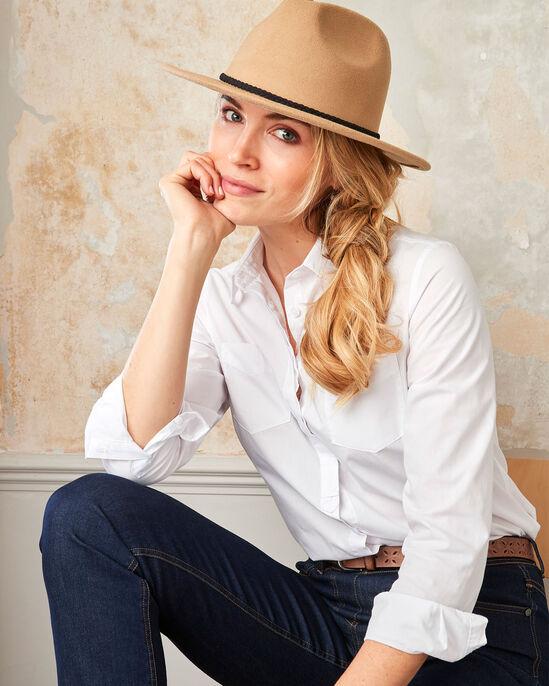 Plaited Strap Fedora Hat
