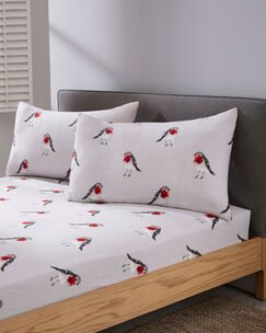 Red Robin Brushed Cotton Sheet Set