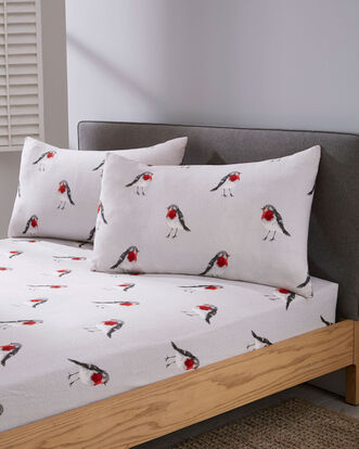 Red Robin Brushed Cotton Sheet Set