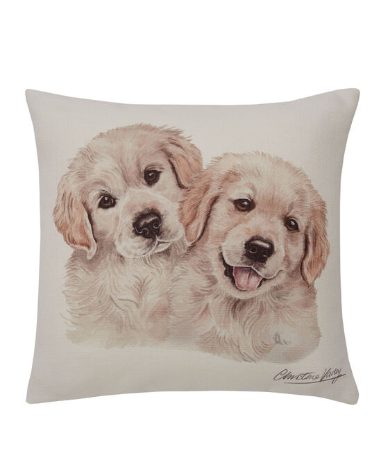 Waggy Dogz Golden Retriever Pups Cushion