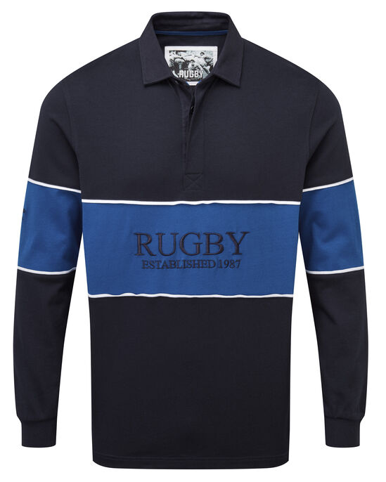 Long Sleeve Panelled Rugby Shirt