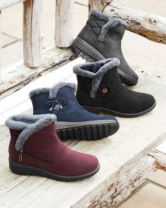 Flexisole Bow Trim Snug Boots