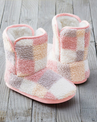 Patchwork Slipper Boots