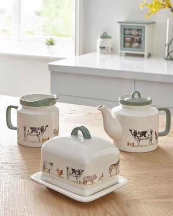 Country Farm China Jug
