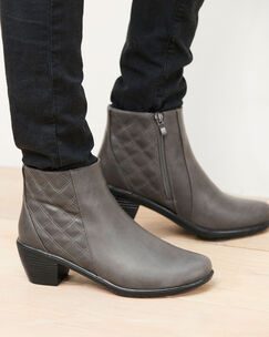 Heeled Quilted Ankle Boots
