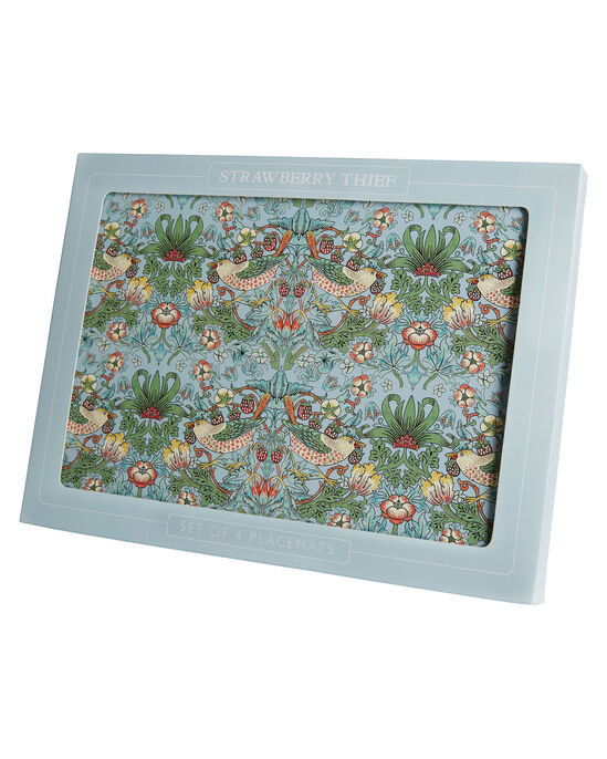 William Morris Strawberry Thief Pack of 4 Placemats and 4 Coasters