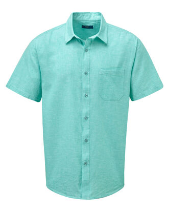 Short Sleeve Linen Cotton Shirt