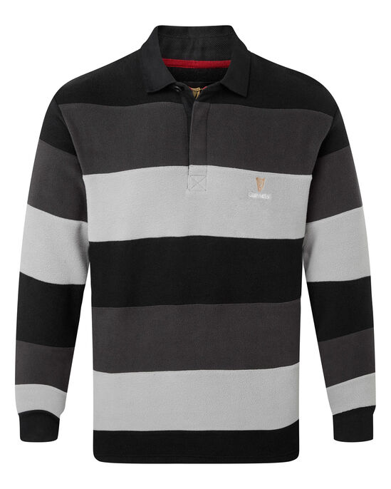 Guinness® Hooped Stripe Fleece Rugby Shirt