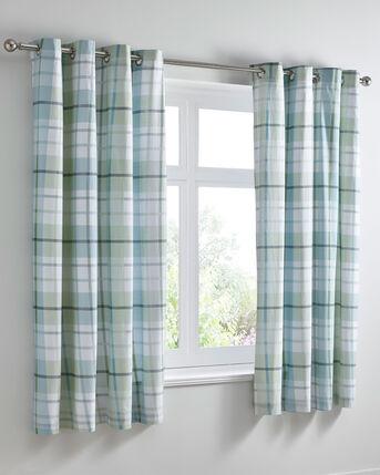 "Carrington Eyelet Curtains 66x72"""