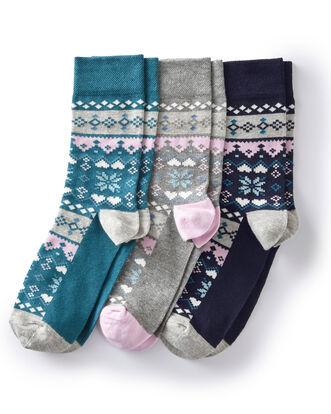 3Pk Fair Isle Socks