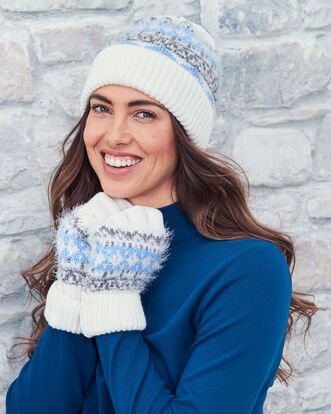 Knitted Fair-isle Hat and Glove Set