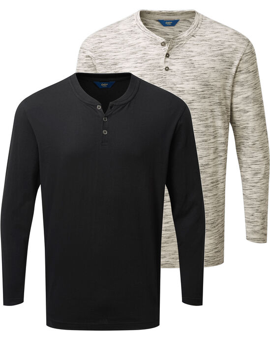 Pack of 2 Long Sleeve Grandad Tops