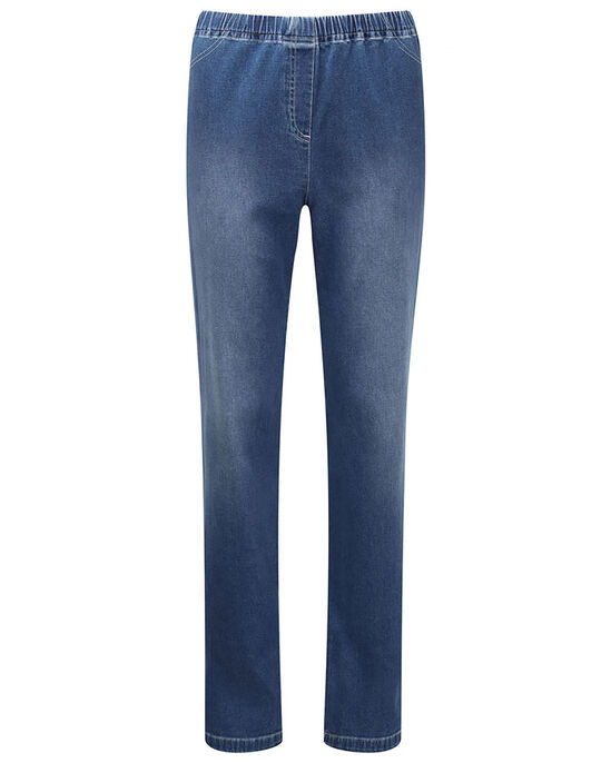 Pull On Stretch Denim Trousers