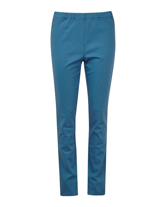 Pull-on Stretch Straight Leg Trousers
