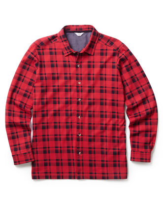 Classic Red Long Sleeve Printed Jersey Shirt
