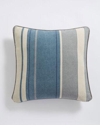 Striped Print Filled Cushion