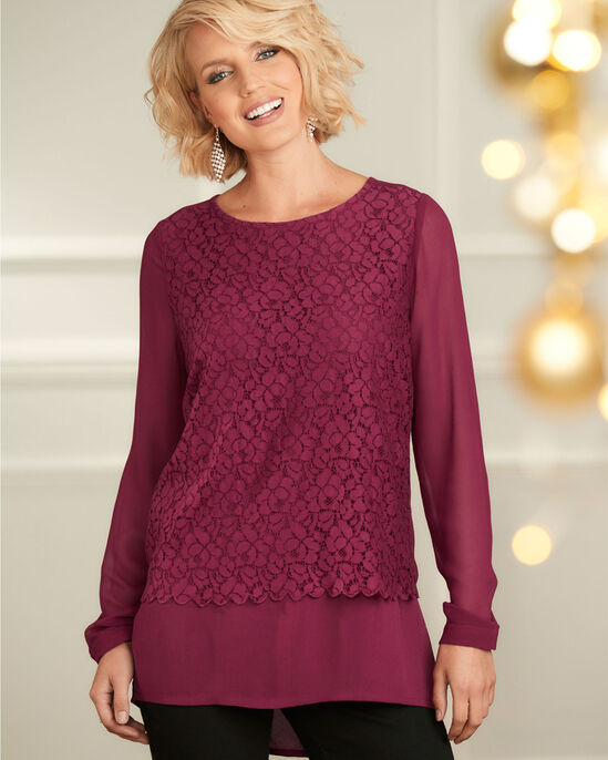 Lace Double Layer Top