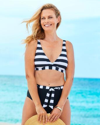 Contrast Panel Printed Bikini Top