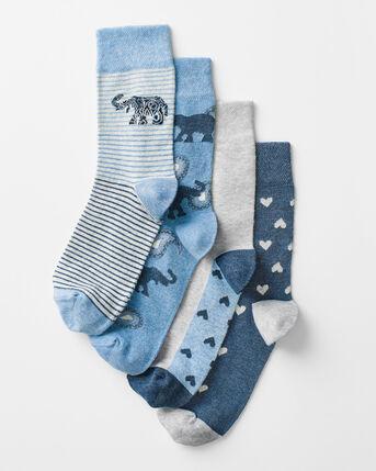 Pack 4 Comfort Top Elephant Socks
