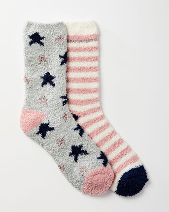 2 Pack Cosy Bed Socks