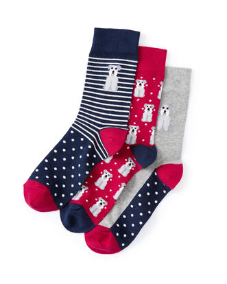 3pk Comfort Top Dog Socks