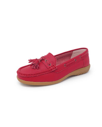 Leather Flexisole Tassle Loafers