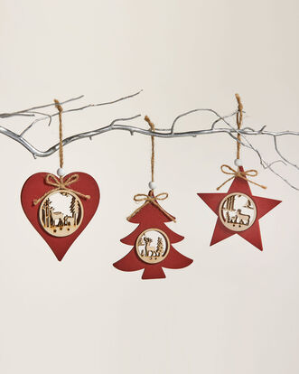 Pack of 6 Cut Out Christmas Decorations