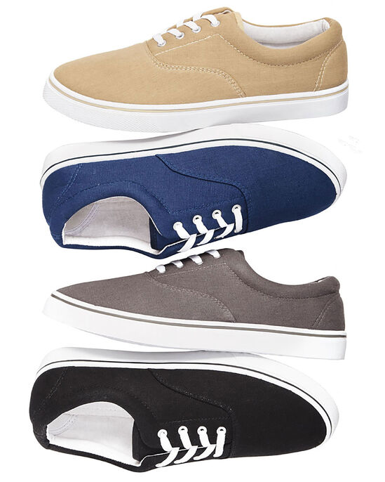 Two-Pack Men's Canvas Lace Up Shoes
