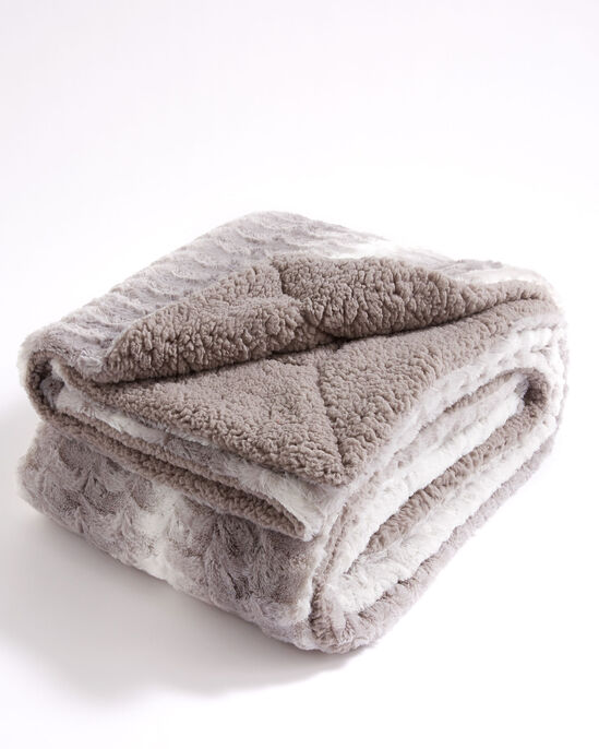 Faux Fur Sherpa Lined Throw