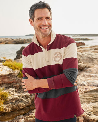 Guinness® Long Sleeve Stripe Panel Rugby Shirt