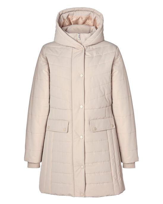 Stylish Long Padded Hooded Coat