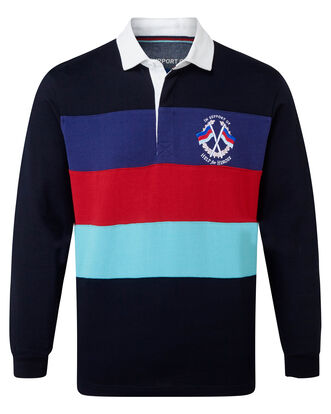 Help For Heroes Long Sleeve Stripe Rugby Shirt