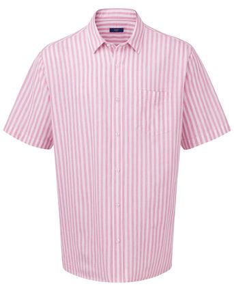 Short Sleeve Linen-Blend Shirt