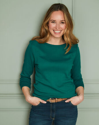 Cosy-Up Long Sleeve Boat Neck Top