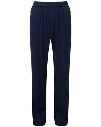 Elasticated Zip Pocket Pull-on Trousers