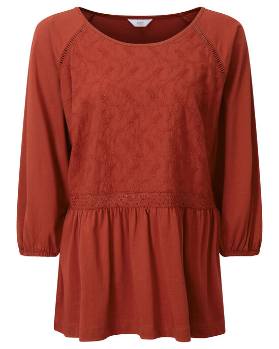 Jersey Embroidered Top