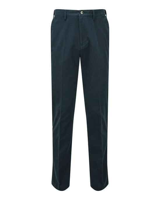 Travel Flat Front Chino Trousers