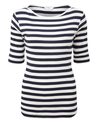 Half Sleeve Boat Neck Top