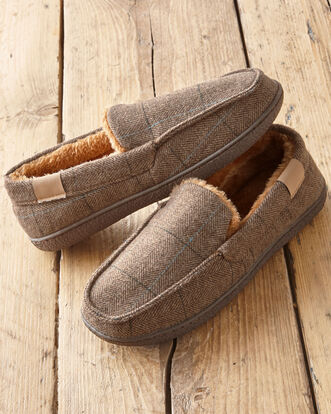 Plush Lined Moccasin Slippers