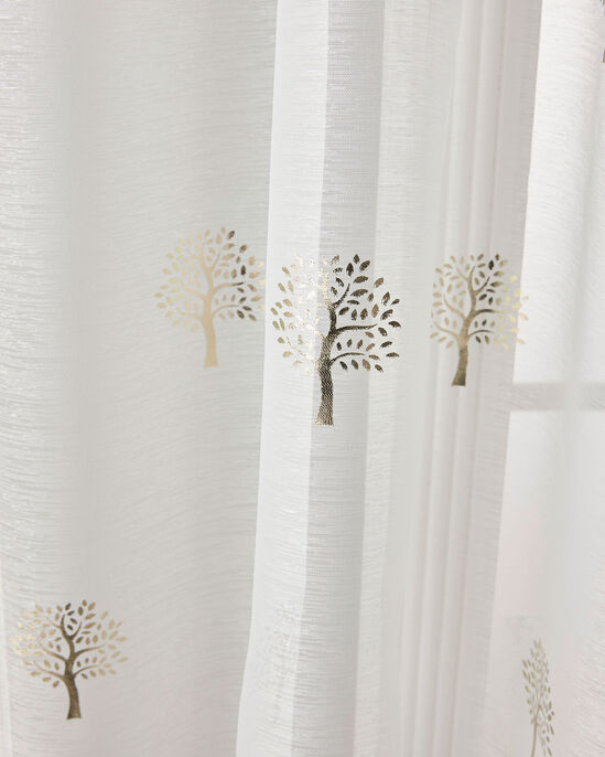 "Tree Print Voile (Pair) 55X54"""