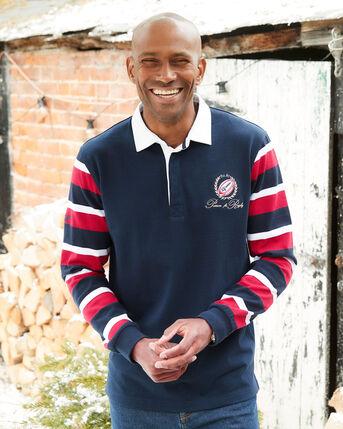 Long Sleeve Contrast Sleeve Rugby Shirt