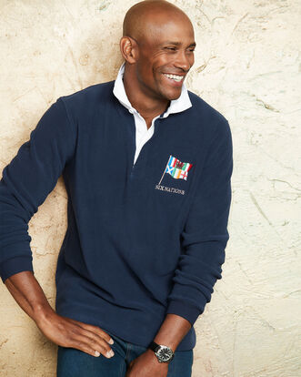 6 Nations Long Sleeve Fleece Rugby Shirt