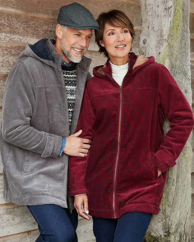Women's Jackets for All Seasons | Cord Fleece Lined Coat | By Cotton Traders