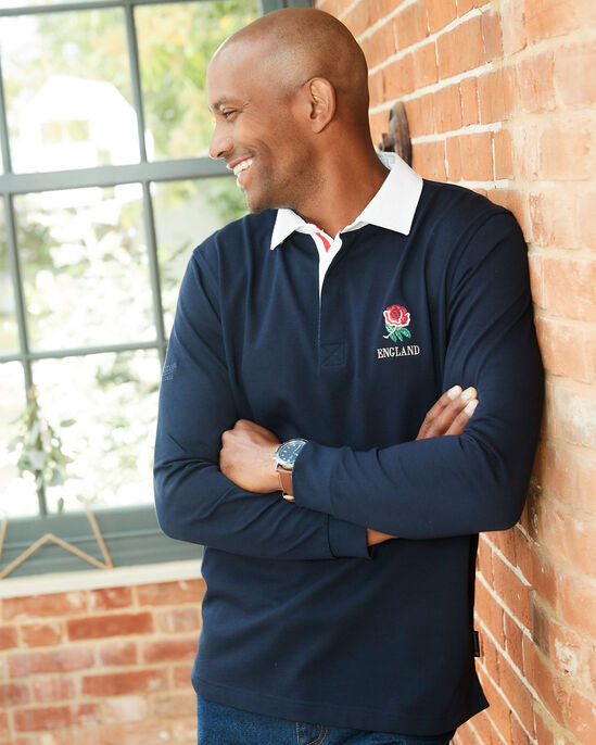 Long Sleeve Classic England Rugby Shirt