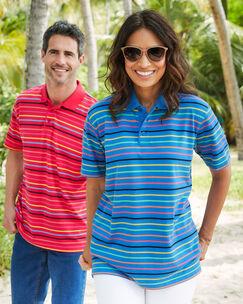 Short Sleeve Stripe Polo Shirt